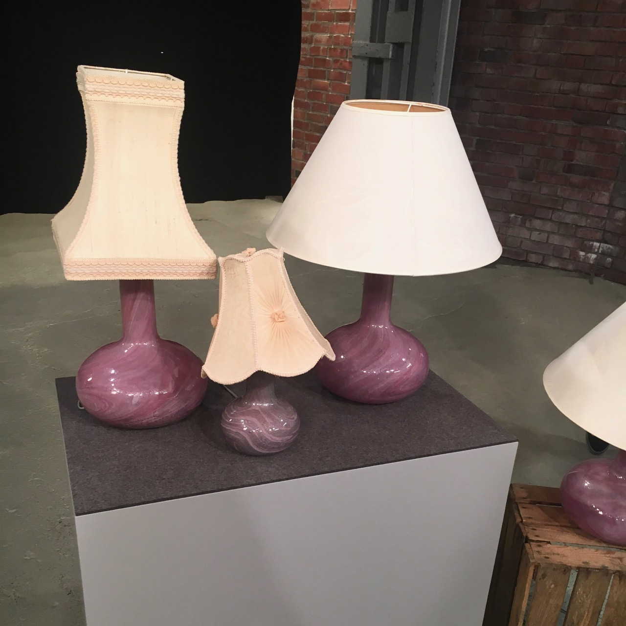Verkauft! Viererset Glaslampen aus Bares für Rares vom 14